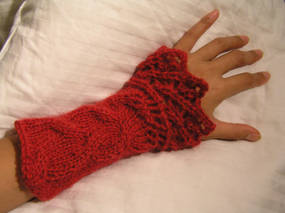 Lace Wristlets Knitting Pattern : Myras knitting gallery